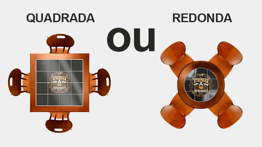 Mesa quadrada ou redonda? Qual a melhor opção para você?