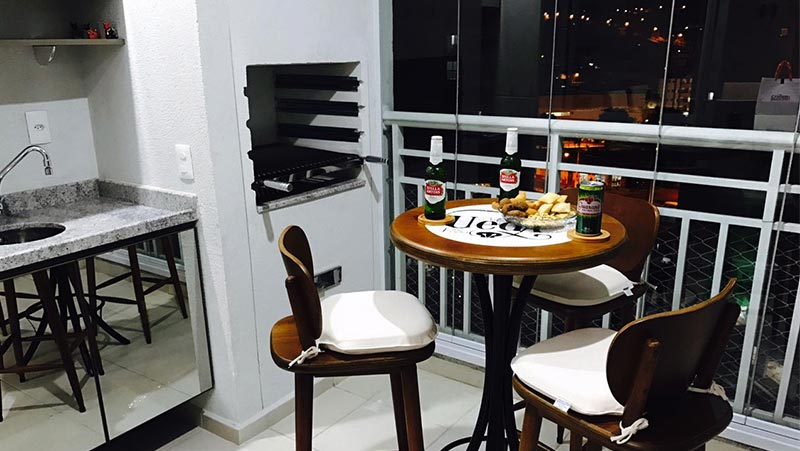 Varanda gourmet pequena de apartamento | Dicas de decoração, ideias e inspirações + Fotos