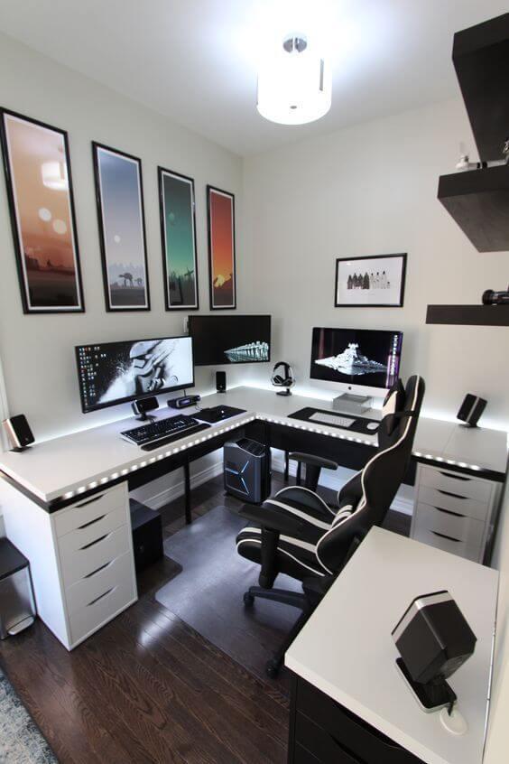 Home Office Masculino usado também para jogos