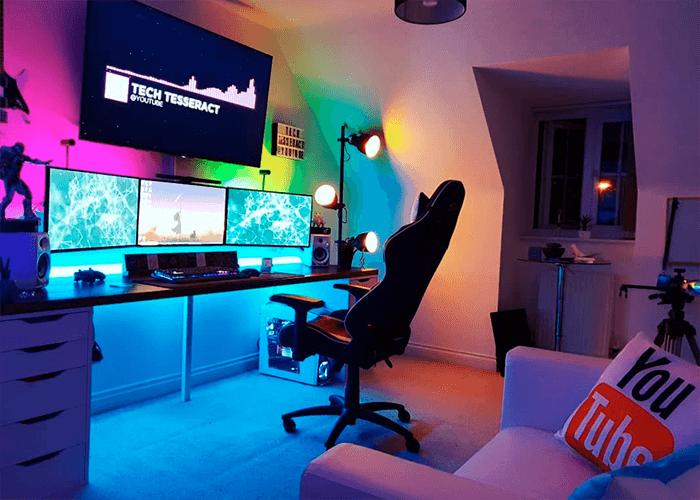 Quarto setup gamer