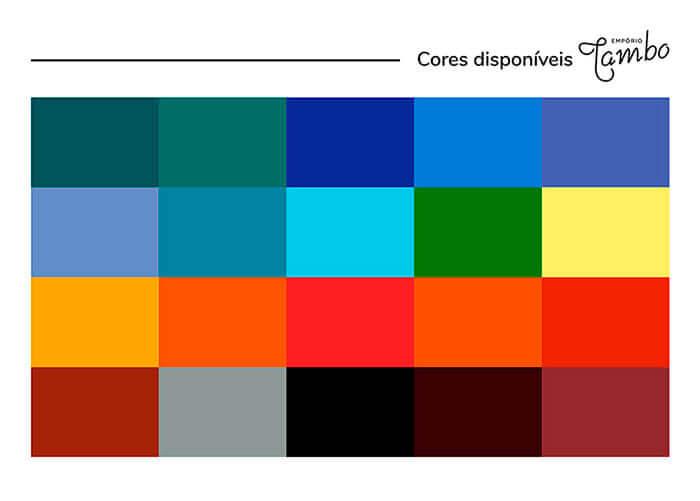 tabela das cores