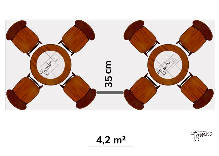 2-Mesas-vista-de-cima-com-tampo-redondo-com-cadeiras-e-anotação-de-metros-quadrados